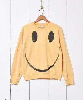 古着スマイルプリント スウェットシャツ 古着のネット通販 古着屋グレープフルーツムーン