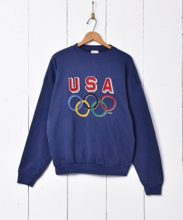 古着オリンピック プリントスウェットシャツ 古着のネット通販 古着屋グレープフルーツムーン