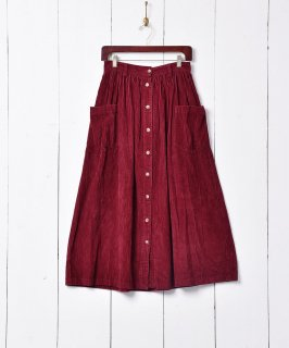 古着フロントボタン コーデュロイスカート 古着のネット通販 古着屋グレープフルーツムーン