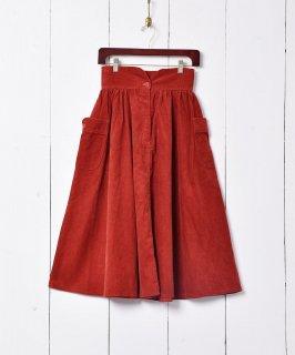 古着ビッグポケット コーデュロイスカート 古着のネット通販 古着屋グレープフルーツムーン