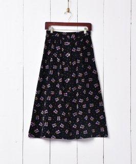 古着総柄 フロントボタン コーデュロイスカート 古着のネット通販 古着屋グレープフルーツムーン