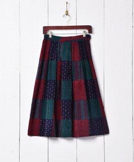 古着アメリカ製 パッチワーク風 コーデュロイスカート 古着のネット通販 古着屋グレープフルーツムーン