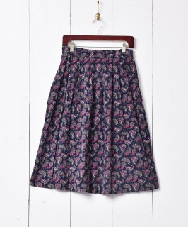 古着ペイズリー柄 コーデュロイスカート 古着のネット通販 古着屋グレープフルーツムーン