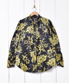 古着花柄 長袖シャツ 古着のネット通販 古着屋グレープフルーツムーン