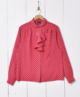 古着アメリカ製 フリルデザインブラウス 古着のネット通販 古着屋グレープフルーツムーン