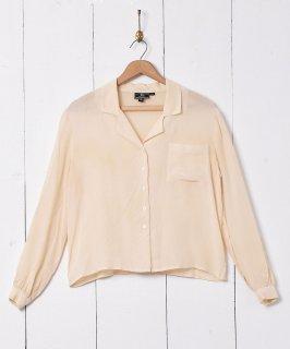 古着開襟 長袖 シルクシャツ 古着のネット通販 古着屋グレープフルーツムーン