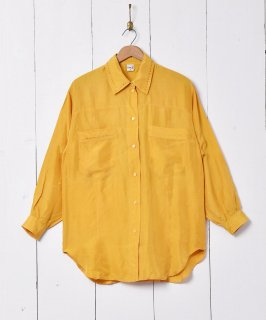 古着刺繍 長袖 シルクシャツ 古着のネット通販 古着屋グレープフルーツムーン