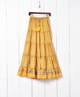 古着総柄 ティアードスカート 古着のネット通販 古着屋グレープフルーツムーン