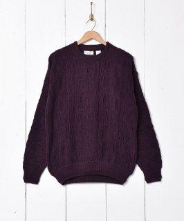 古着3Dデザインセーター 古着のネット通販 古着屋グレープフルーツムーン