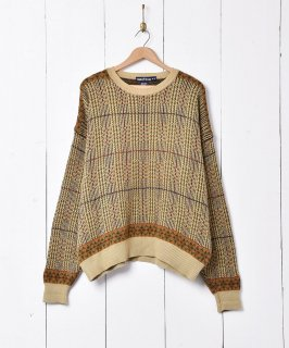 古着nautica デザイン コットンニットセーター 古着のネット通販 古着屋グレープフルーツムーン