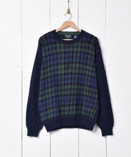 古着チェック柄 セーター 古着のネット通販 古着屋グレープフルーツムーン