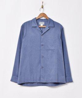 古着【4色展開】「TEMPTATION」ピーチスキン オープンカラー長袖シャツ ブルー 古着のネット通販 古着屋グレープフルーツムーン