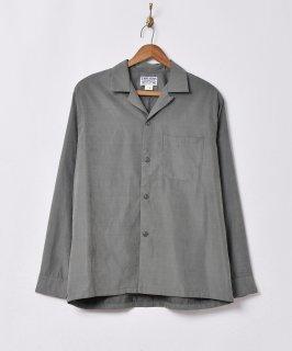 古着【4色展開】「TEMPTATION」ピーチスキン オープンカラー長袖シャツ グリーン 古着のネット通販 古着屋グレープフルーツムーン