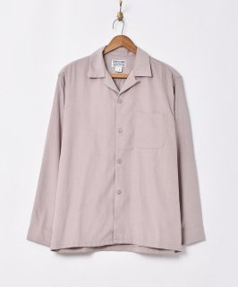古着【4色展開】「TEMPTATION」ピーチスキン オープンカラー長袖シャツ ベージュ 古着のネット通販 古着屋グレープフルーツムーン