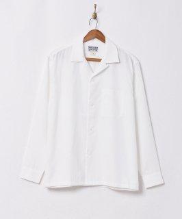 古着【4色展開】「TEMPTATION」ピーチスキン オープンカラー長袖シャツ ホワイト 古着のネット通販 古着屋グレープフルーツムーン