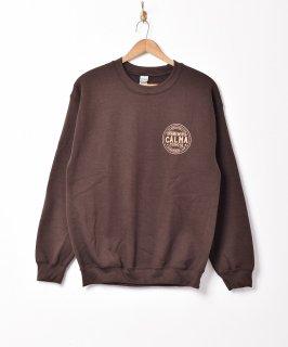 古着【2色展開】CALMA プリントスウェットシャツ ブラウン 古着のネット通販 古着屋グレープフルーツムーン