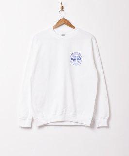 古着【2色展開】CALMA プリントスウェットシャツ ホワイト 古着のネット通販 古着屋グレープフルーツムーン