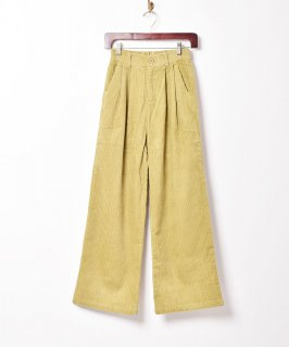 古着【3色展開】「Meridian」コーデュロイ 2タックパンツ イエロー 古着のネット通販 古着屋グレープフルーツムーン