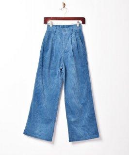 古着【3色展開】「Meridian」コーデュロイ 2タックパンツ ブルー 古着のネット通販 古着屋グレープフルーツムーン
