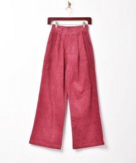 古着【3色展開】「Meridian」コーデュロイ 2タックパンツ ワインレッド 古着のネット通販 古着屋グレープフルーツムーン