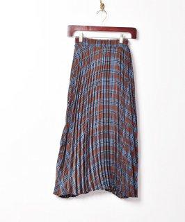 古着【2色展開】「Meridian」プリーツチェックスカート ブルー 古着のネット通販 古着屋グレープフルーツムーン