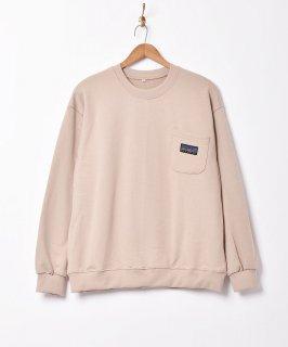古着【5色展開】「BIVOUAC」ポケットロゴスウェットシャツ ベージュ 古着のネット通販 古着屋グレープフルーツムーン