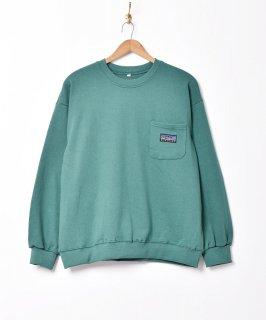 古着【5色展開】「BIVOUAC」ポケットロゴスウェットシャツ グリーン 古着のネット通販 古着屋グレープフルーツムーン