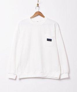 古着【5色展開】「BIVOUAC」ポケットロゴスウェットシャツ ホワイト 古着のネット通販 古着屋グレープフルーツムーン