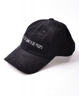 古着【3色展開】刺繍入りコーデュロイキャップ ブラック 古着のネット通販 古着屋グレープフルーツムーン