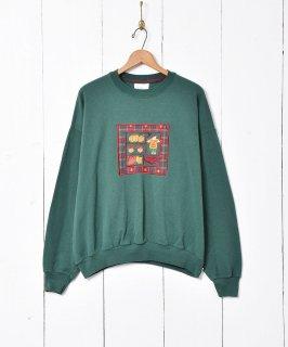 古着オータムモチーフ 刺繍 スウェットシャツ 古着のネット通販 古着屋グレープフルーツムーン