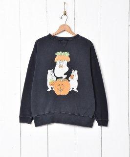 古着アメリカ製 ゴースト ハロウィンスウェットシャツ 古着のネット通販 古着屋グレープフルーツムーン