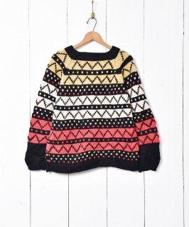 古着総柄 マルチカラー セーター 古着のネット通販 古着屋グレープフルーツムーン