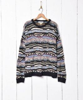 古着アメリカ製 総柄 デザインセーター 古着のネット通販 古着屋グレープフルーツムーン