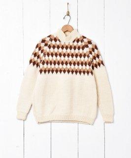 古着ダイヤ柄 セーター 古着のネット通販 古着屋グレープフルーツムーン