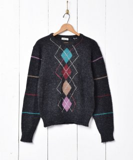 古着アーガイル柄 セーター 古着のネット通販 古着屋グレープフルーツムーン