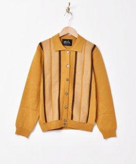 古着【3色展開】「Meridian」ストライプデザイン カラーセーター マスタード 古着のネット通販 古着屋グレープフルーツムーン