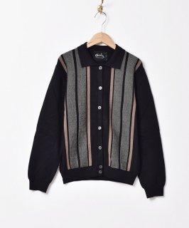 古着【3色展開】「Meridian」ストライプデザイン カラーセーター ブラック 古着のネット通販 古着屋グレープフルーツムーン