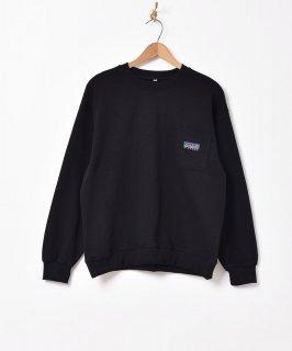 古着【5色展開】「BIVOUAC」ポケットロゴスウェットシャツ ブラック 古着のネット通販 古着屋グレープフルーツムーン