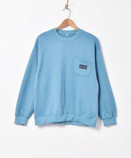 古着【5色展開】「BIVOUAC」ポケットロゴスウェットシャツ  ブルー 古着のネット通販 古着屋グレープフルーツムーン