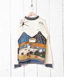古着風景デザイン 立体セーター 古着のネット通販 古着屋グレープフルーツムーン