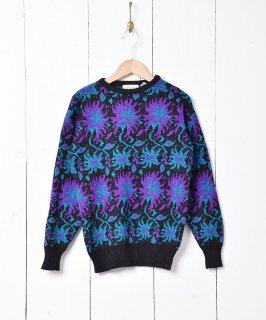 古着花柄セーター 古着のネット通販 古着屋グレープフルーツムーン