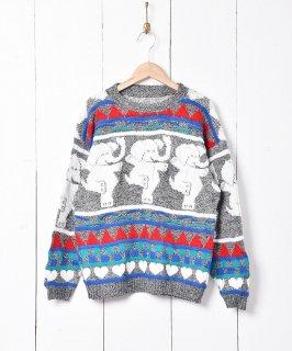 古着ゾウ 立体編みセーター 古着のネット通販 古着屋グレープフルーツムーン
