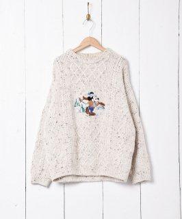 古着ミッキー刺繍セーター 古着のネット通販 古着屋グレープフルーツムーン