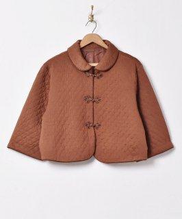古着【3色展開】キルティング チャイナジャケット ブラウン 古着のネット通販 古着屋グレープフルーツムーン