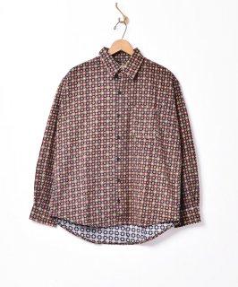 古着「TEMPTATION」小紋柄 コーデュロイシャツ 古着のネット通販 古着屋グレープフルーツムーン
