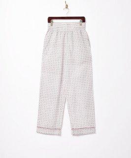 古着【2色展開】小紋柄 パジャマパンツ レッド 古着のネット通販 古着屋グレープフルーツムーン