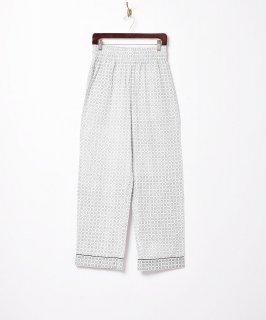 古着【2色展開】小紋柄 パジャマパンツ グリーン 古着のネット通販 古着屋グレープフルーツムーン