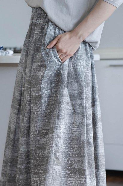 Kate Farley<br> ハンドプリント<br>ギャザースカート