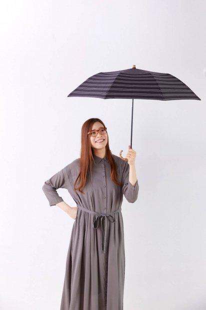 晴雨兼用折り畳み傘<br><モノトーンチェック>