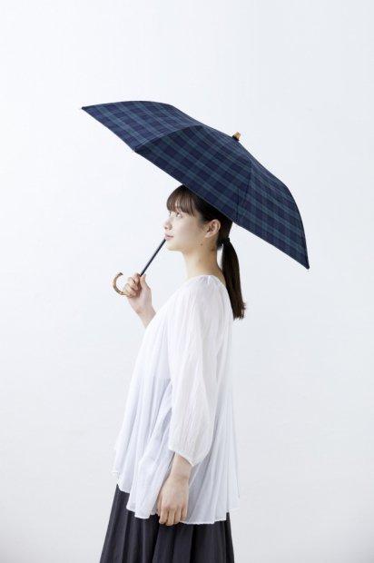 晴雨兼用折り畳み傘<br><ブラックウォッチ>